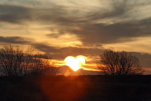 rouw hart zon